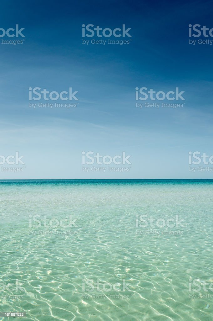 Clear turquoise sea royalty-free stock photo