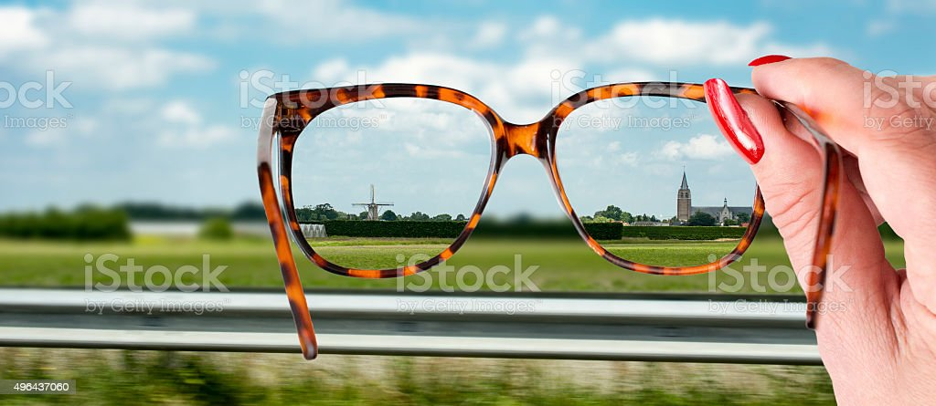 clear  view on holland stock photo