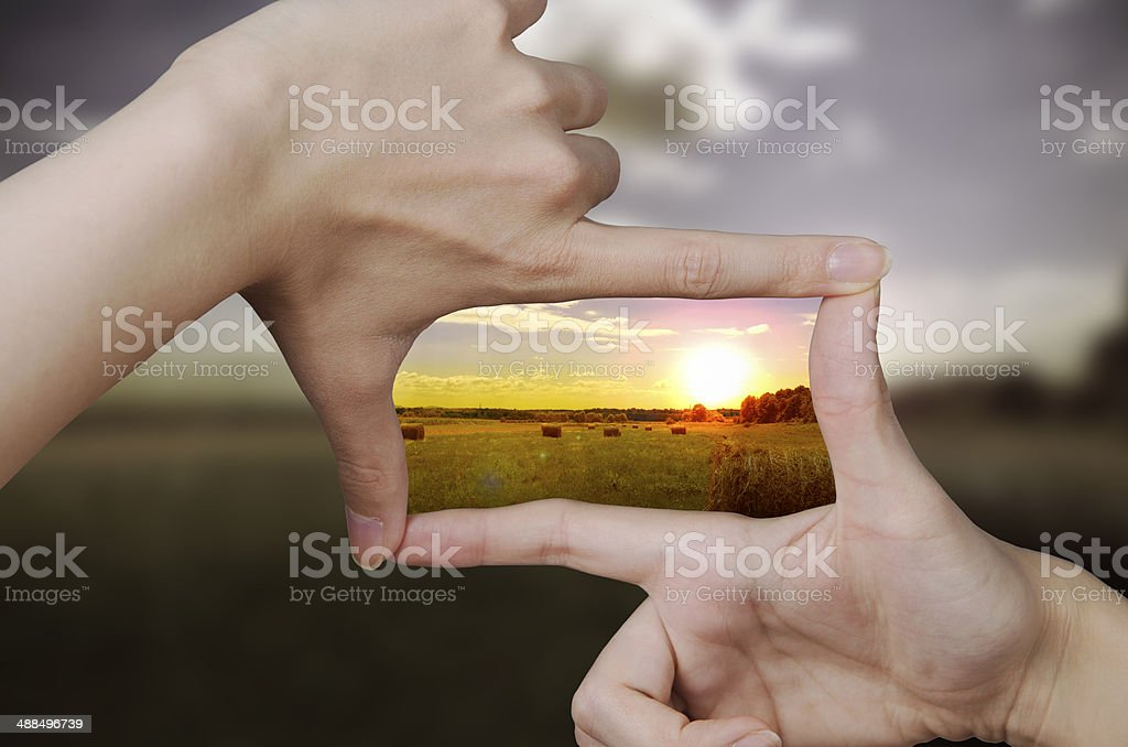 clear vision of a sunset stock photo