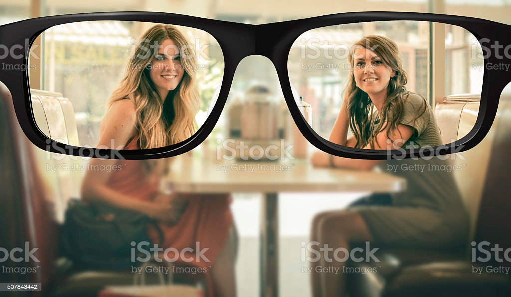 Clear vision stock photo