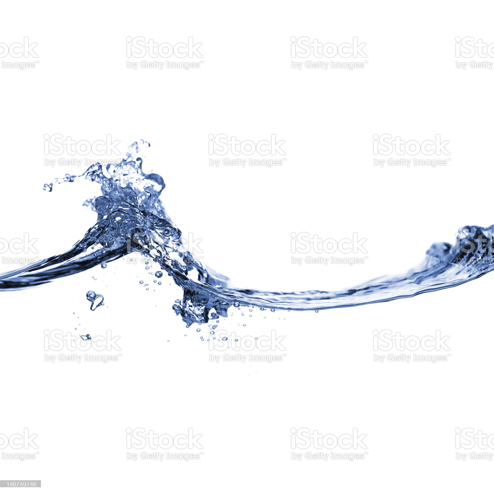 Clear Water Against White royalty-free stock photo