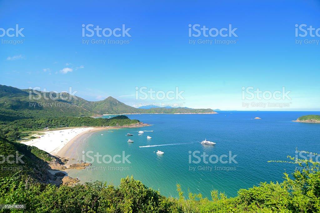 Clear Water Bay, Sai Kung, Hong Kong Global Geopark stock photo