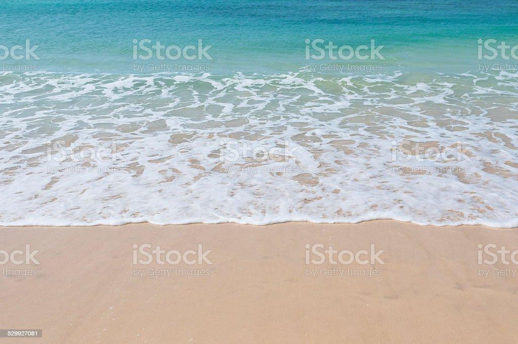 Clear water Chaves beach Praia de Chaves Boavista Cape Verde stock photo