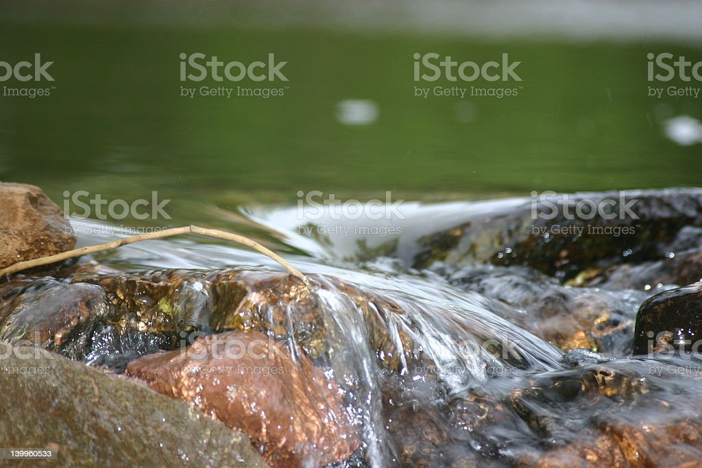 clear water flow royalty-free stock photo
