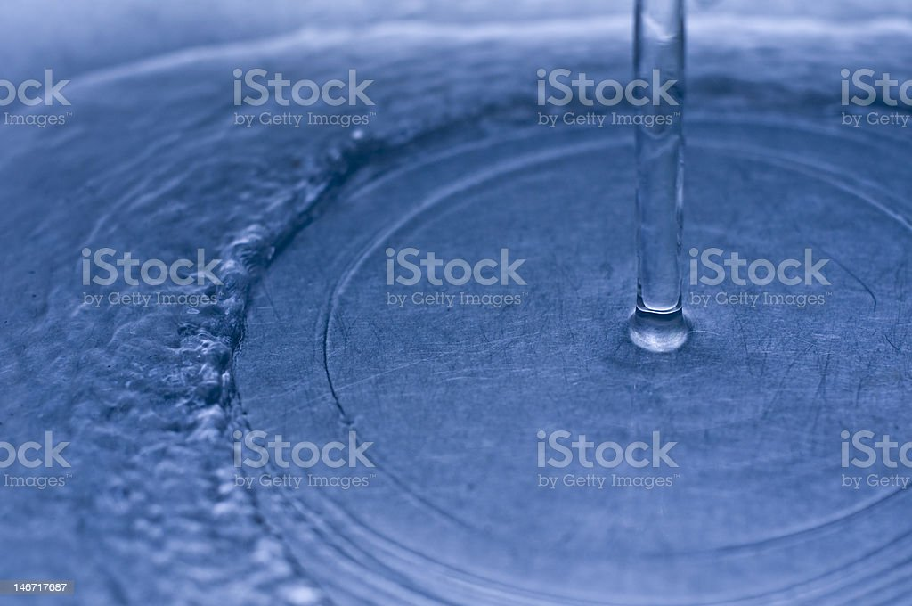 Clear water flowing royalty-free stock photo
