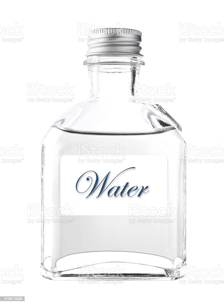 Clear water in Bottle stock photo