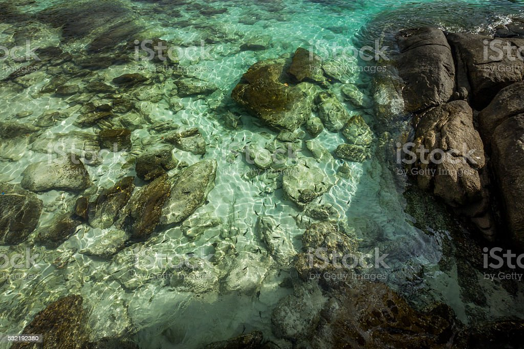 Clear water in Koh Racha Yai Island stock photo
