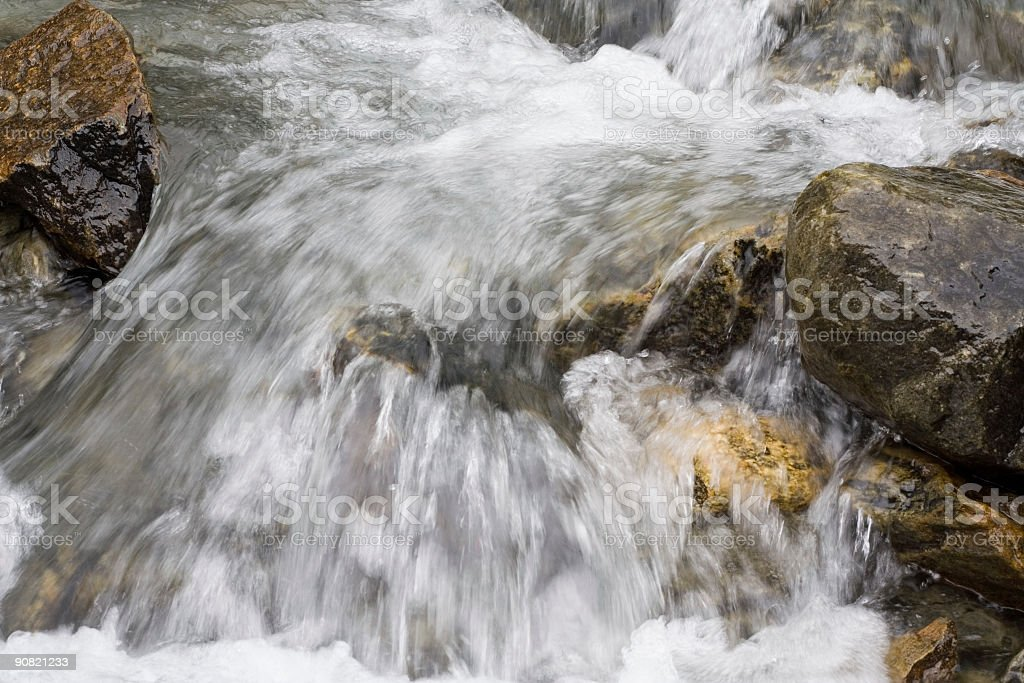 clear water in mountain stream royalty-free stock photo