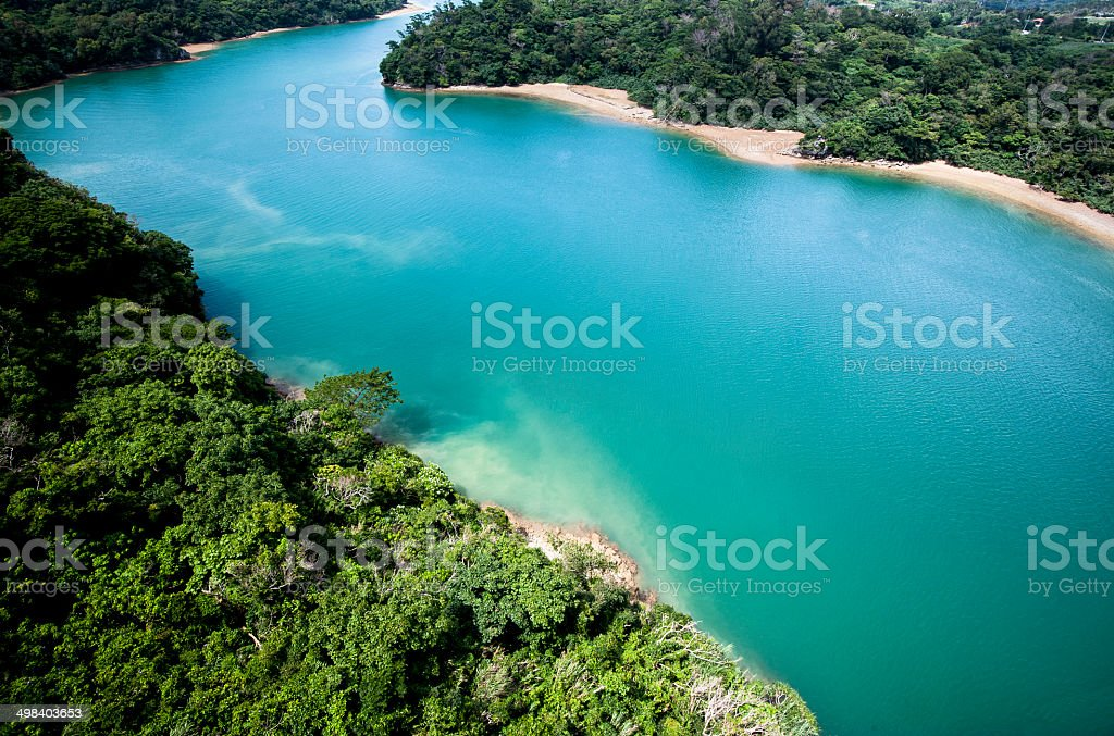 Clear water surface stock photo