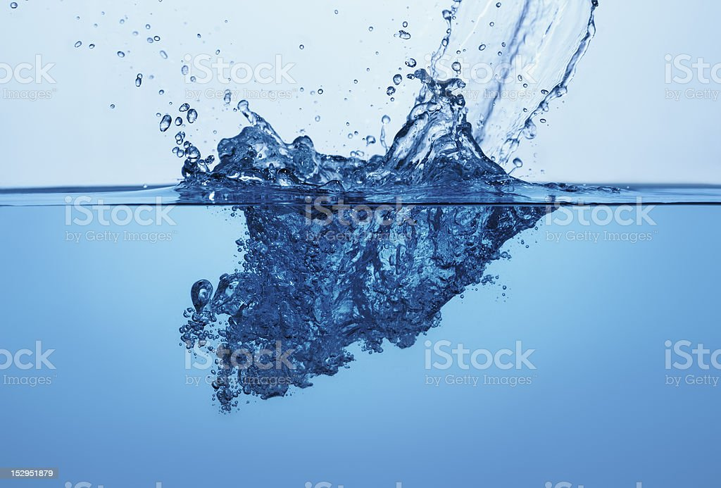 Clear Water Wave Splash And Bubbles 6 royalty-free stock photo