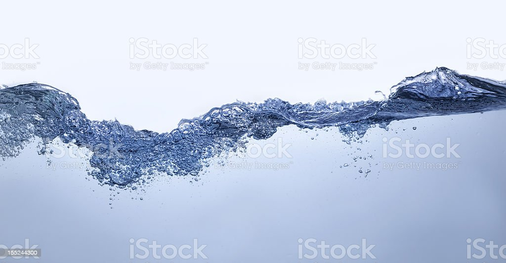 Clear Water Wave Splash And Bubbles 8 royalty-free stock photo