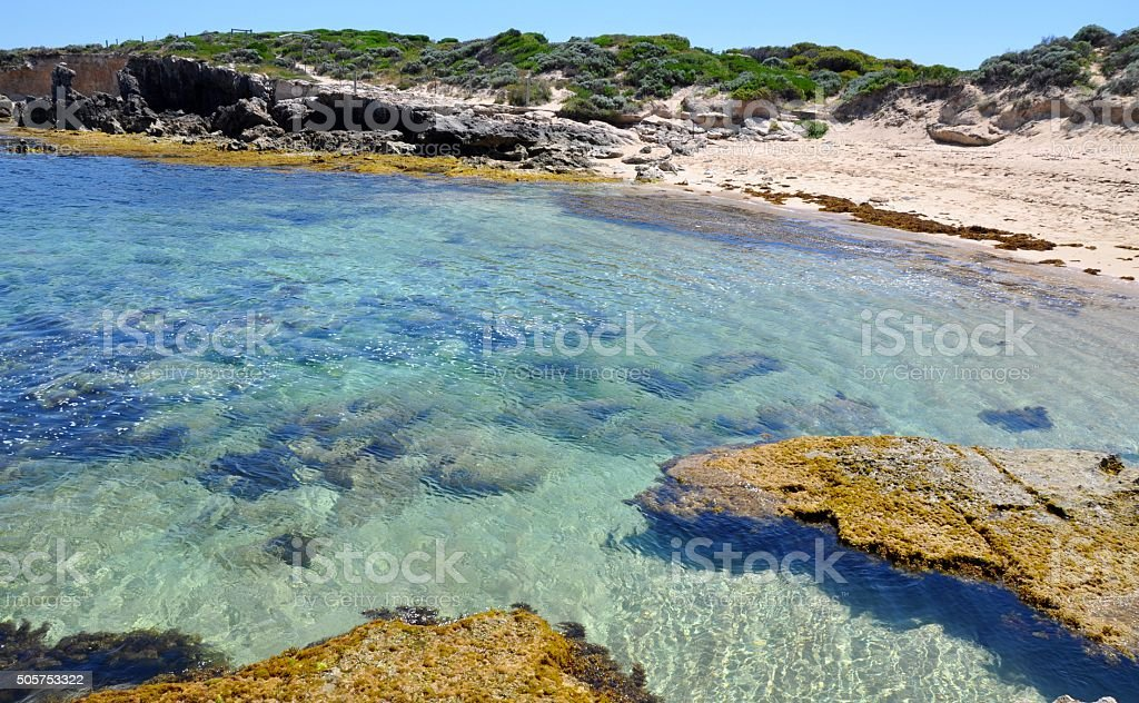 Clear Waters: Cape Peron, Western Australia stock photo