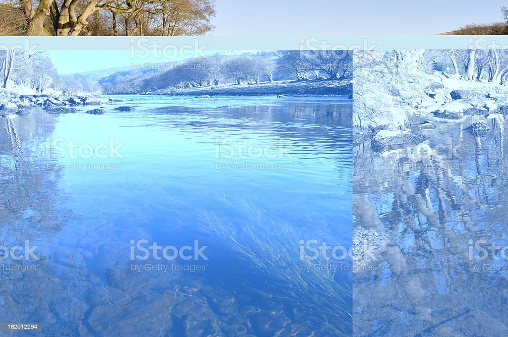 Clear waters of the River Dee stock photo