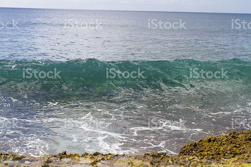 Clear Waves Oahu Hawaii royalty-free stock photo