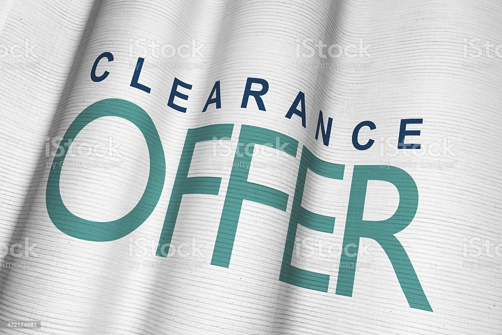 Clearance Flag royalty-free stock photo
