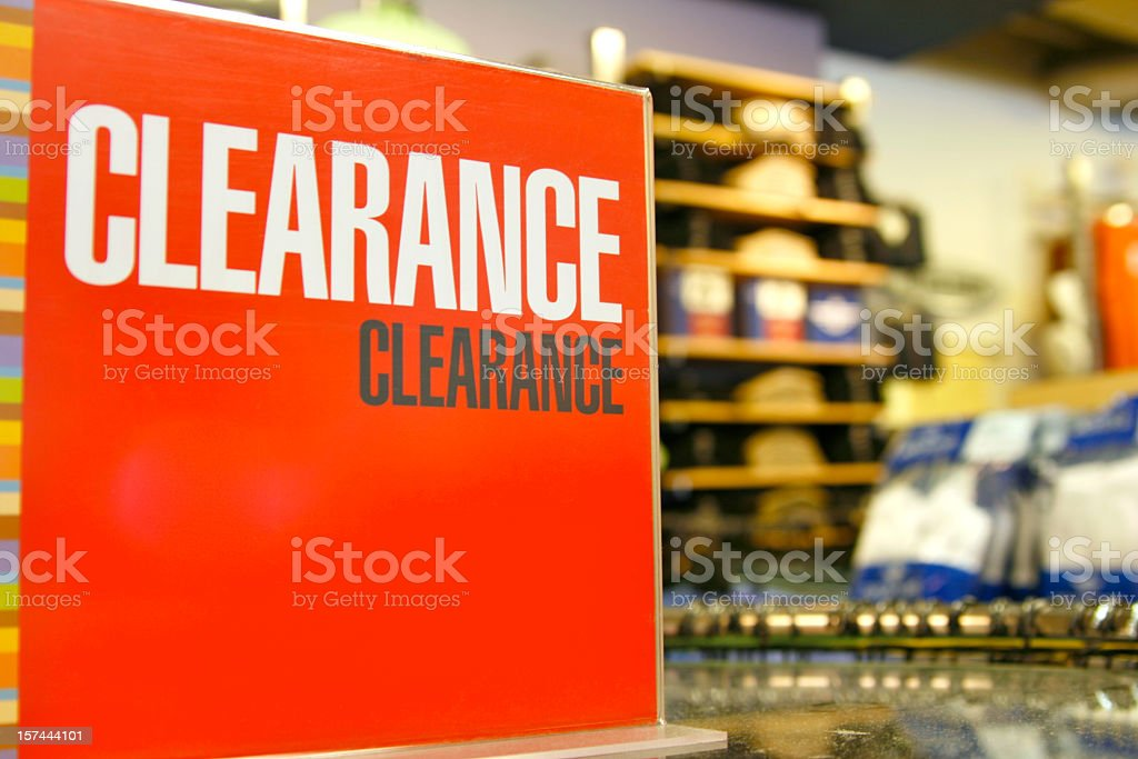 Clearance Retail royalty-free stock photo