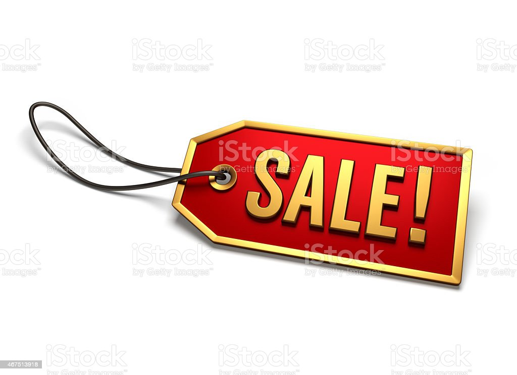 Clearance sale badge stock photo