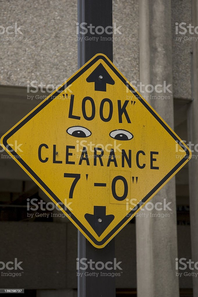 Clearance sign royalty-free stock photo