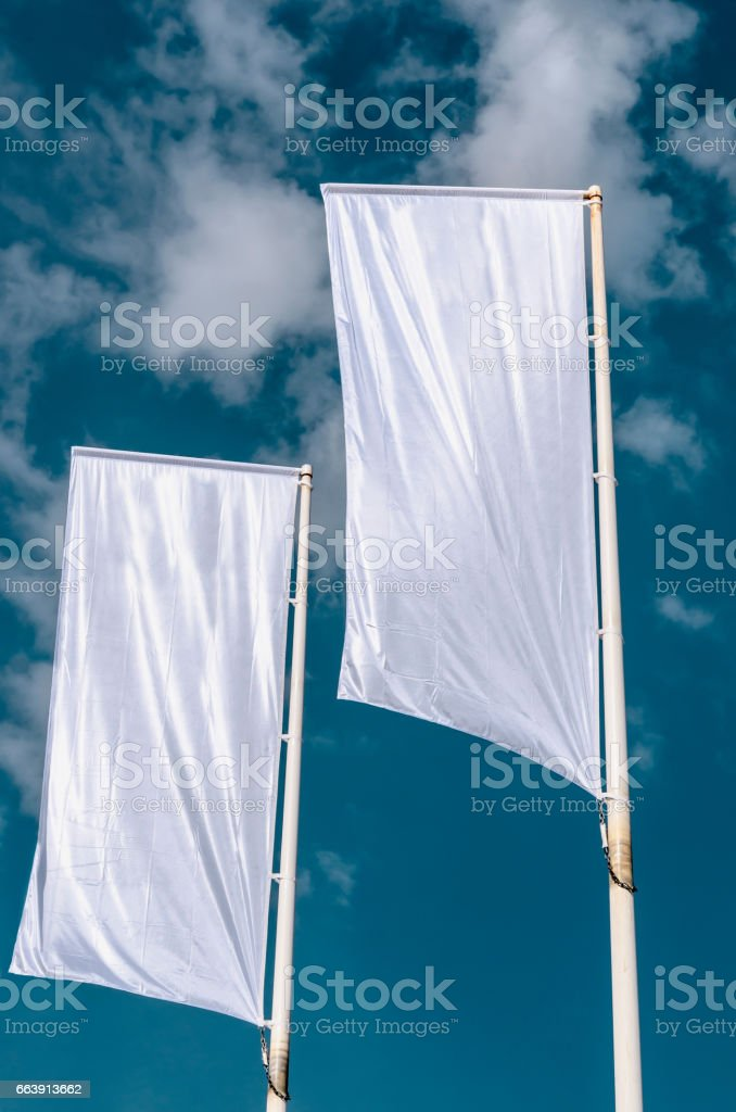Cleared flags stock photo