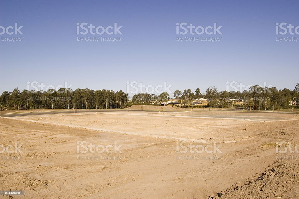 Cleared Land royalty-free stock photo