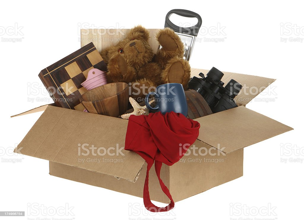 Clearing away clutter stock photo