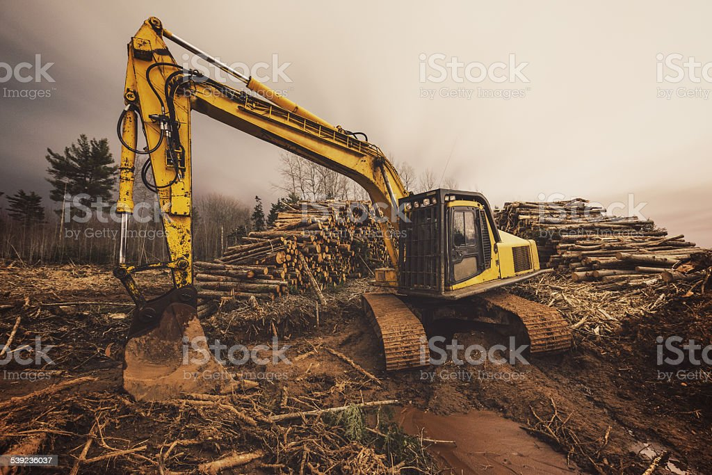 Clearing Construction Site stock photo