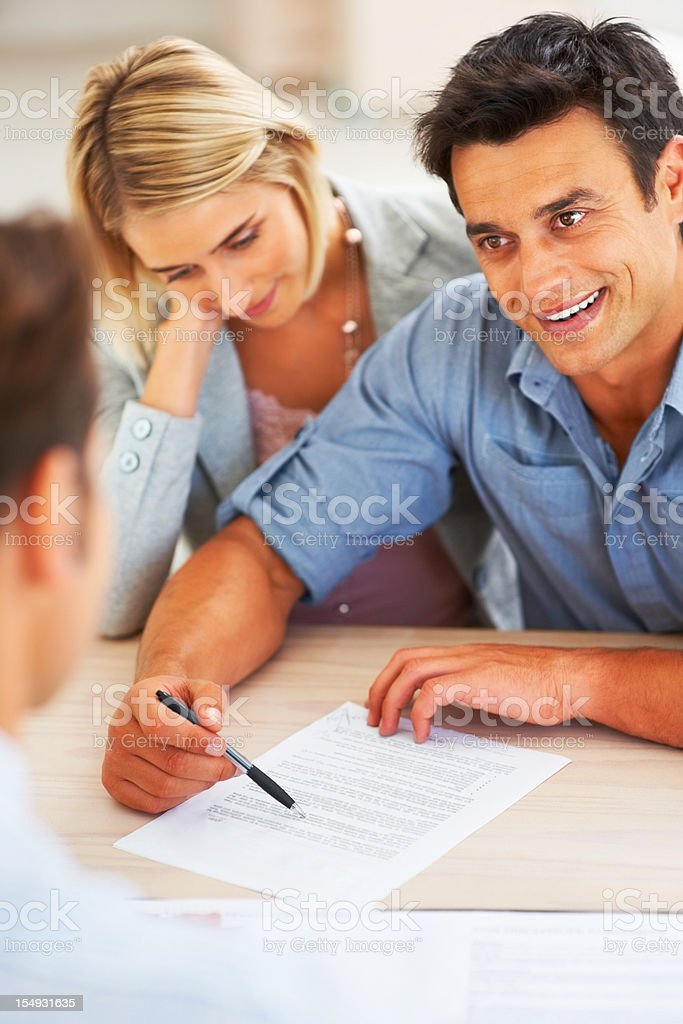 Clearing doubts before signing contract stock photo