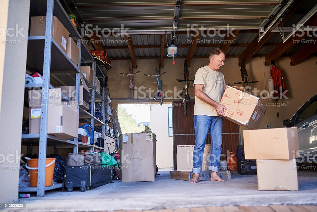 Clearing out some things stock photo