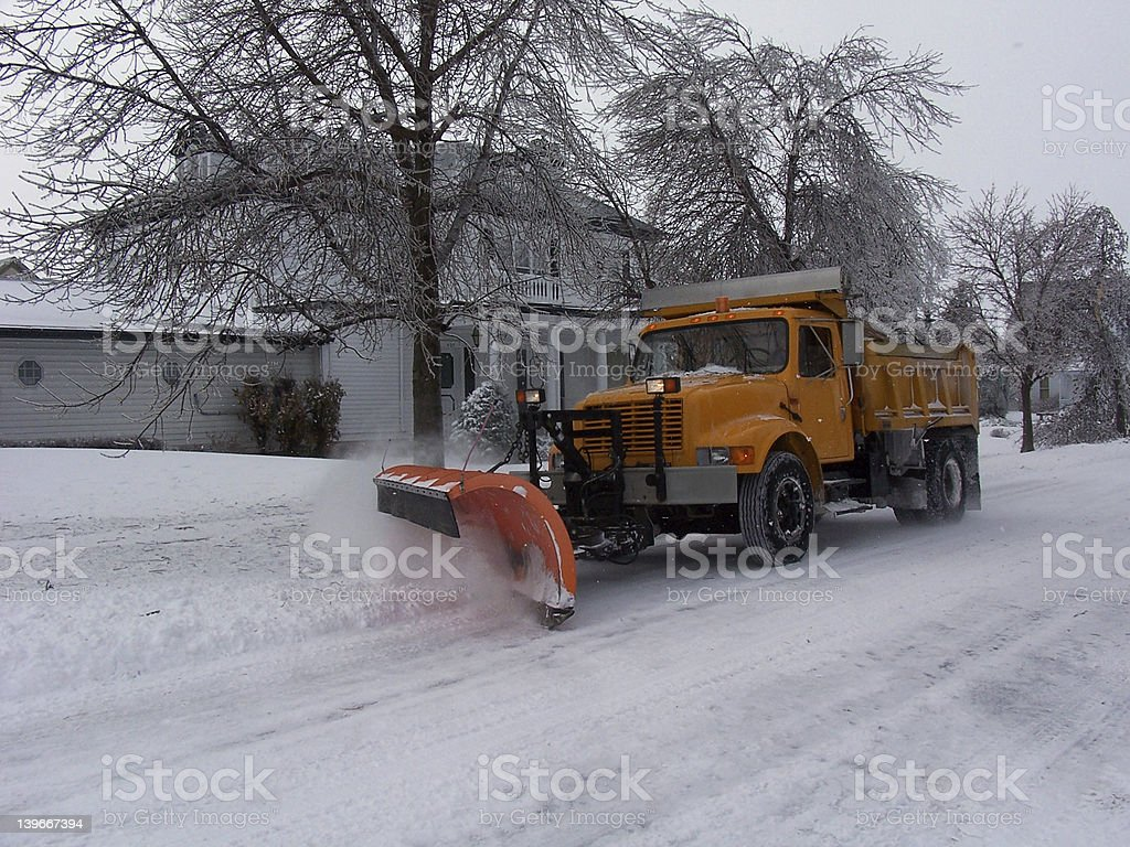 Clearing Snow stock photo