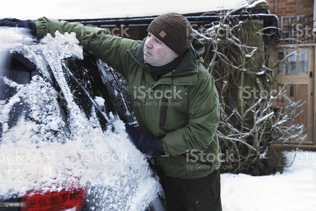 Clearing Snow royalty-free stock photo