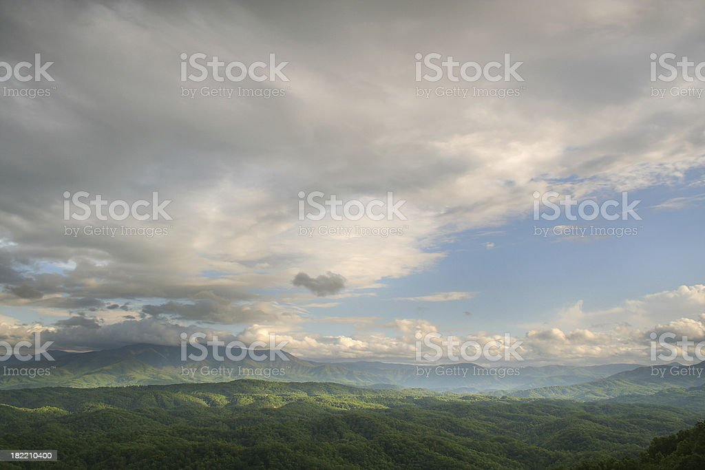 Clearing Storm in the Smoky Mountains Cloud View royalty-free stock photo