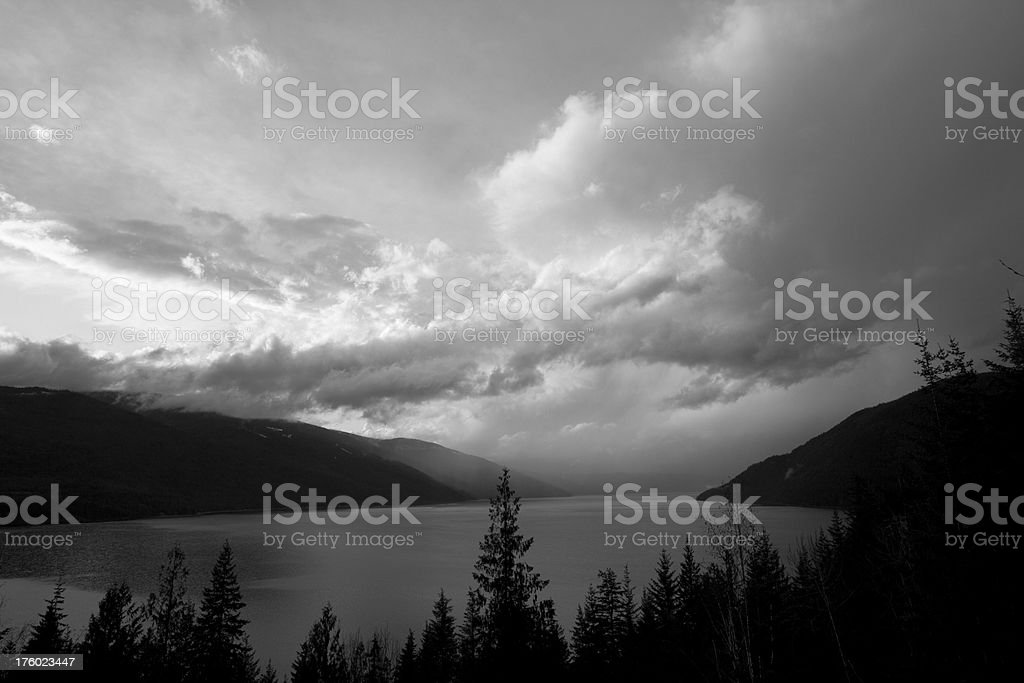 Clearing Storm over Lake royalty-free stock photo
