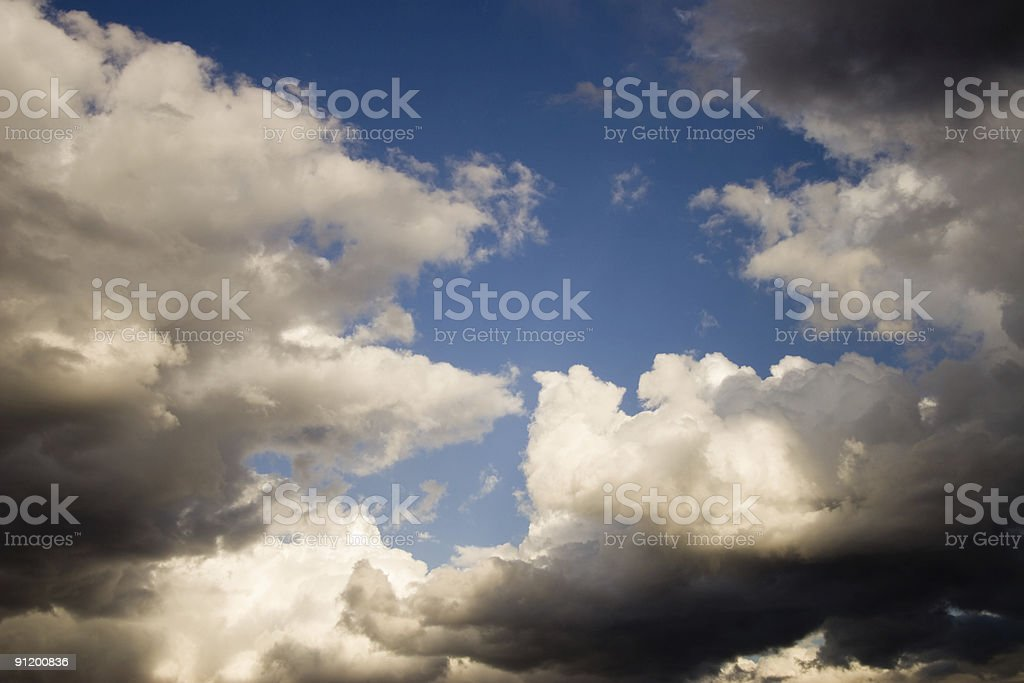Clearing Storm royalty-free stock photo