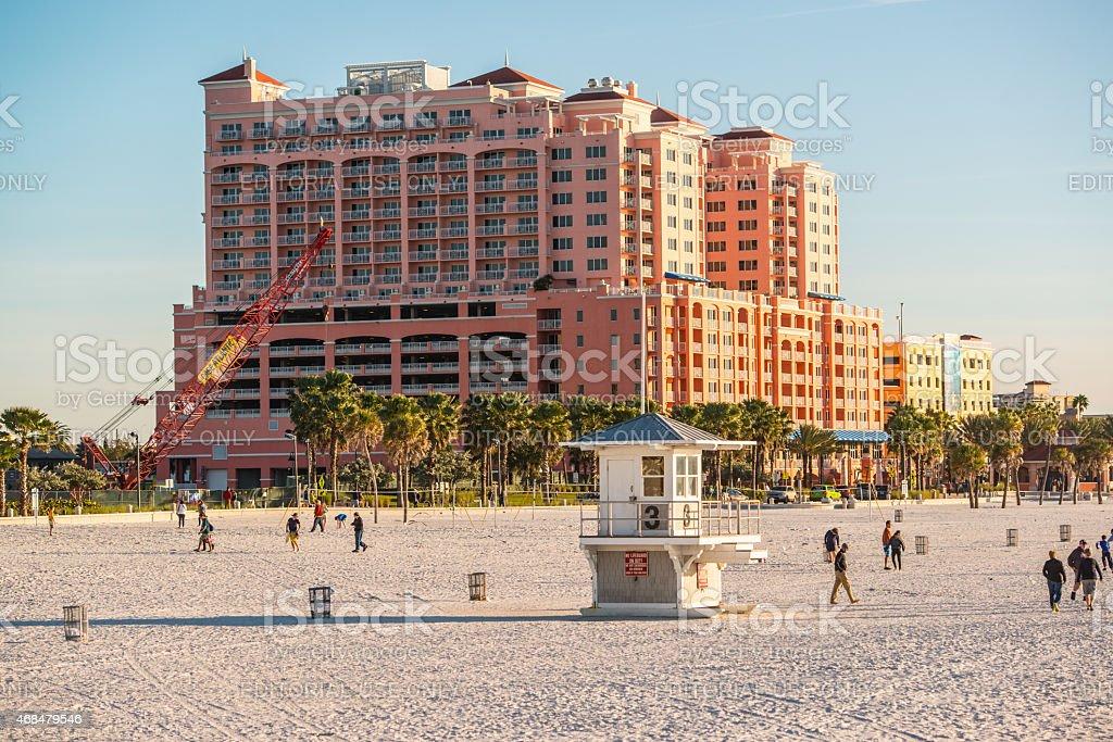 Clearwater Beach and Hyatt Regency Hotel stock photo