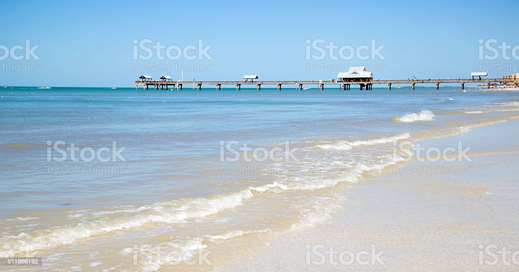 Clearwater Beach At Noon stock photo