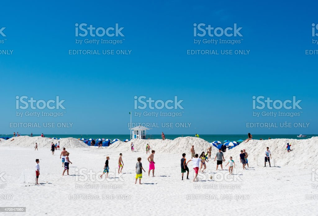 Clearwater Beach soccer stock photo