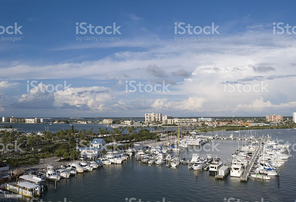 Clearwater Marina stock photo