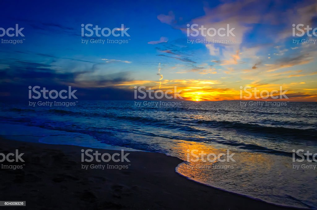 Clearwater Sunset stock photo