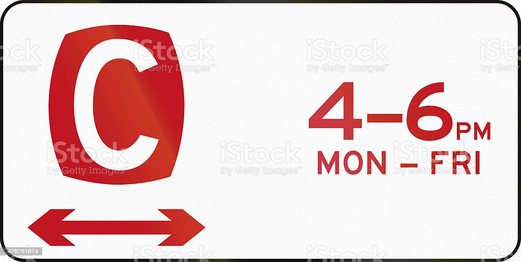 Clearway At Times Shown In Australia stock photo