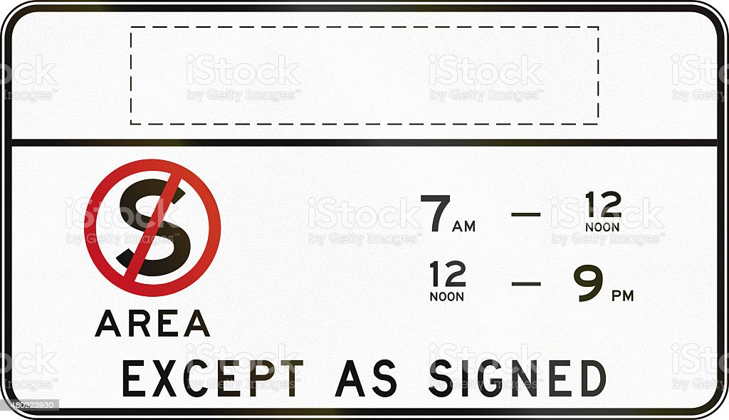 Clearway At Times Shown With Copy Space In Australia stock photo