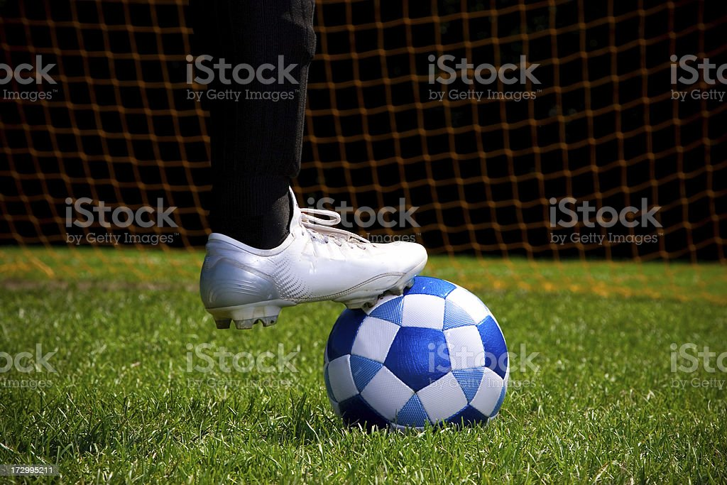 Cleats and ball - Soccer series royalty-free stock photo