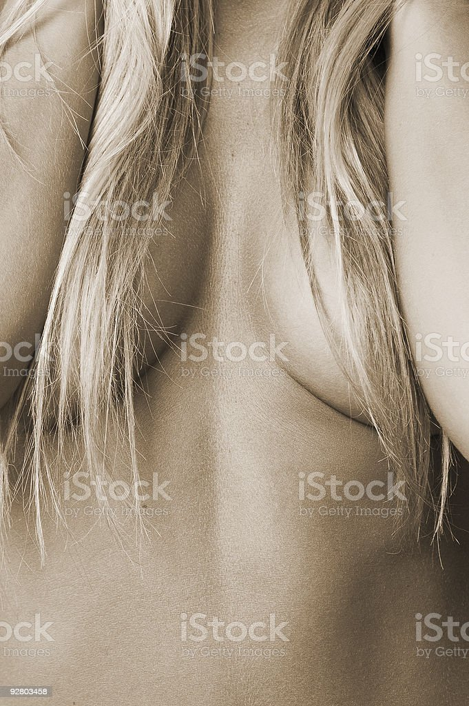 cleavage 2 royalty-free stock photo
