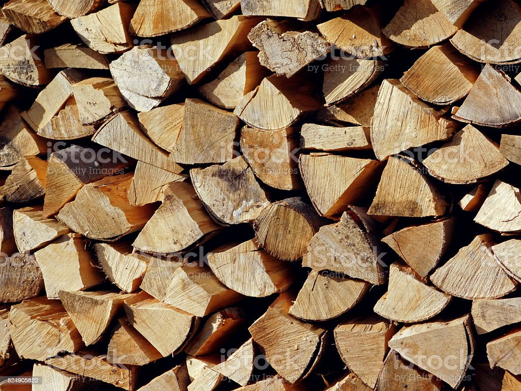 Cleaved firewood texture stock photo