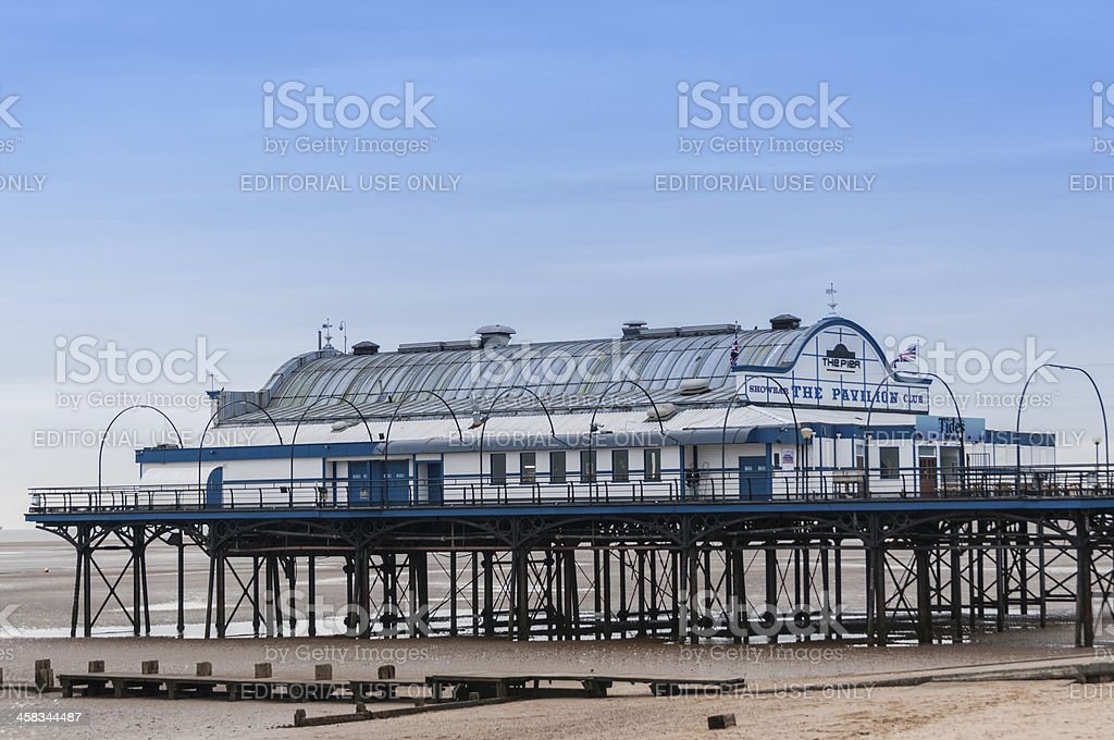 Cleethorpes Pier,Lincolnshire,England,UK royalty-free stock photo