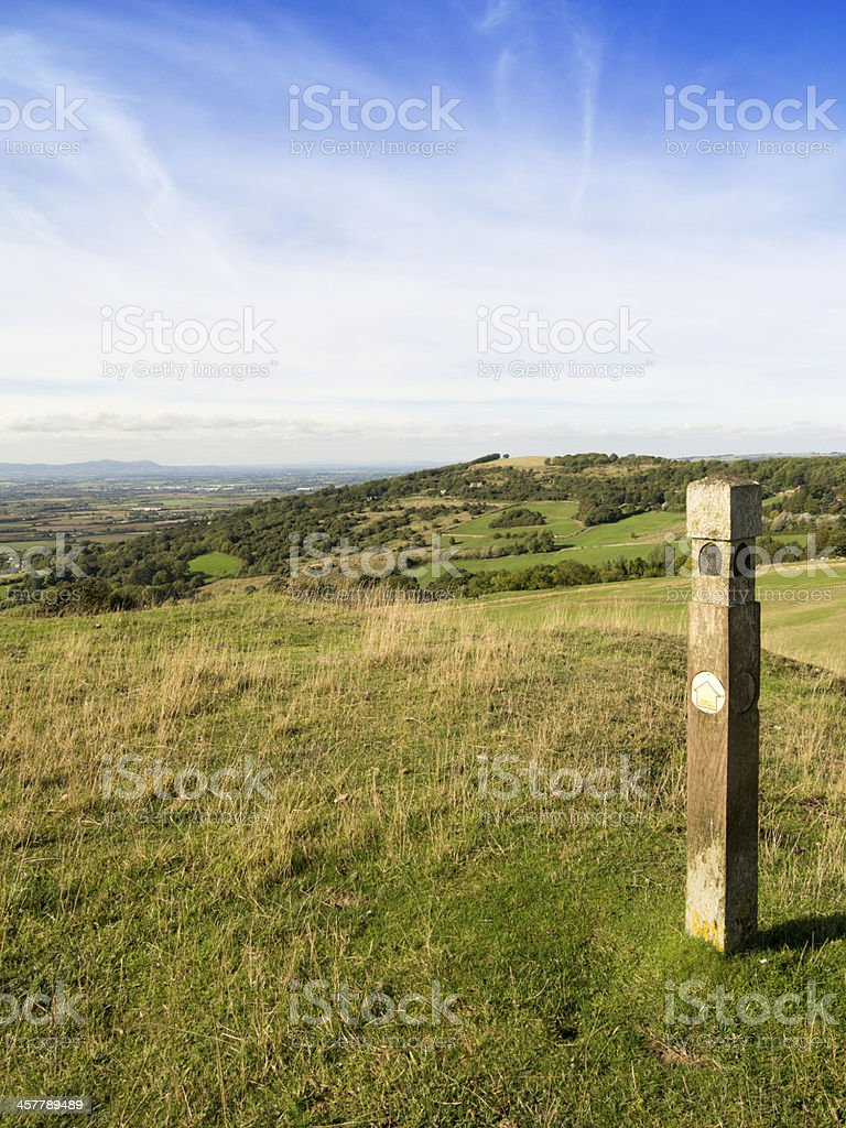 cleeve hill stock photo