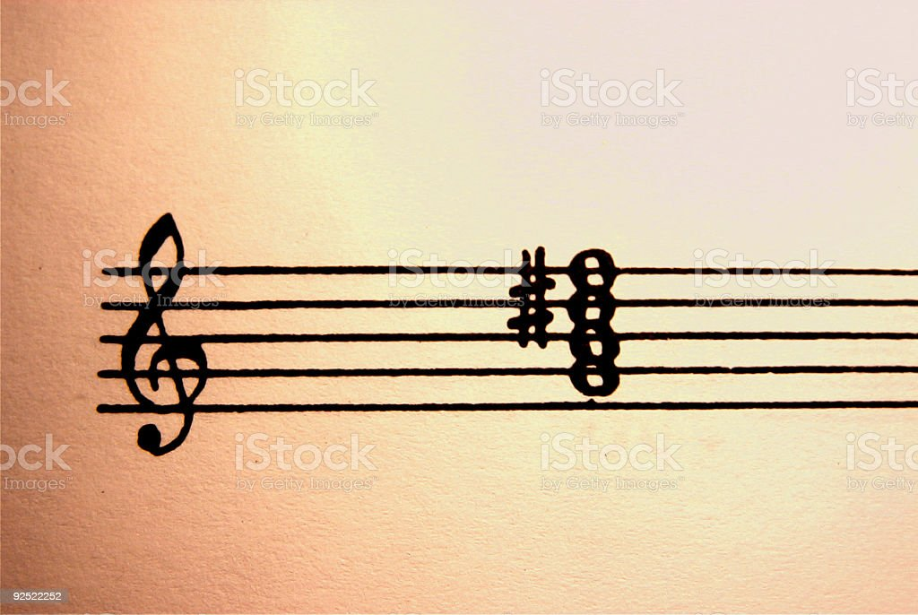 Clef and chord royalty-free stock photo