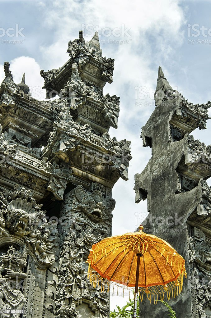 cleft gate at a Hindu Temple in Bali - Indonesia royalty-free stock photo