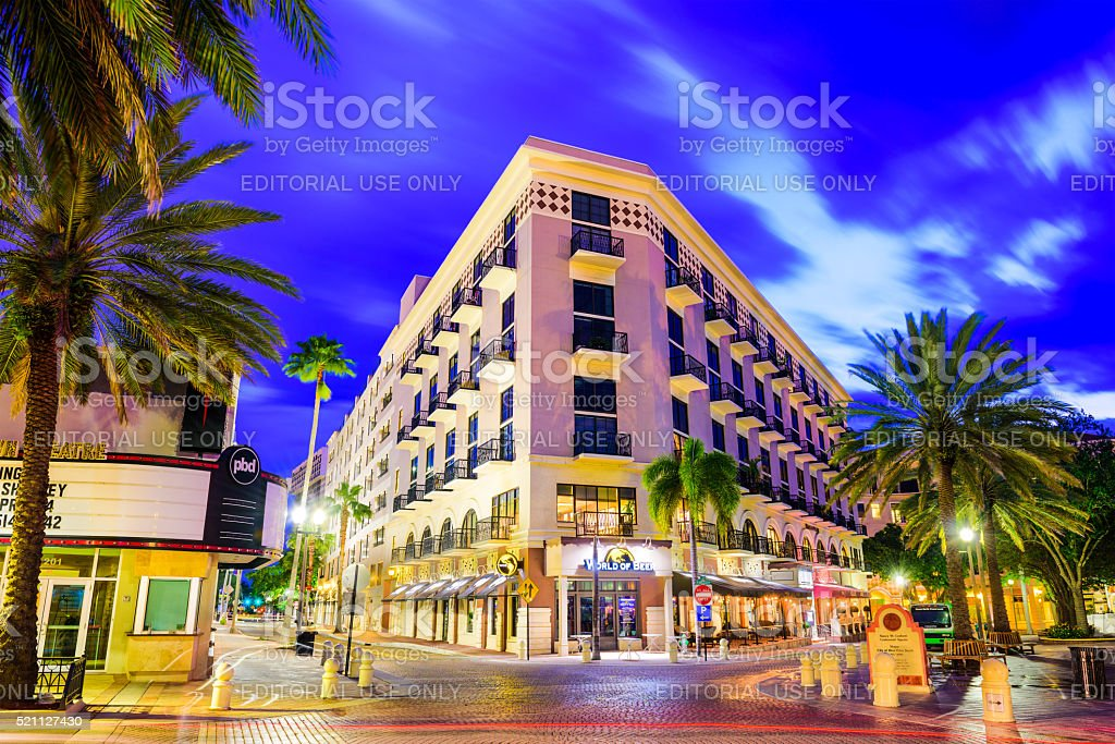 Clematis Street West Palm Beach stock photo