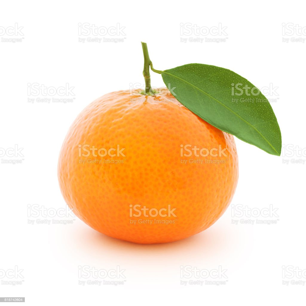 Clementine (with path) stock photo
