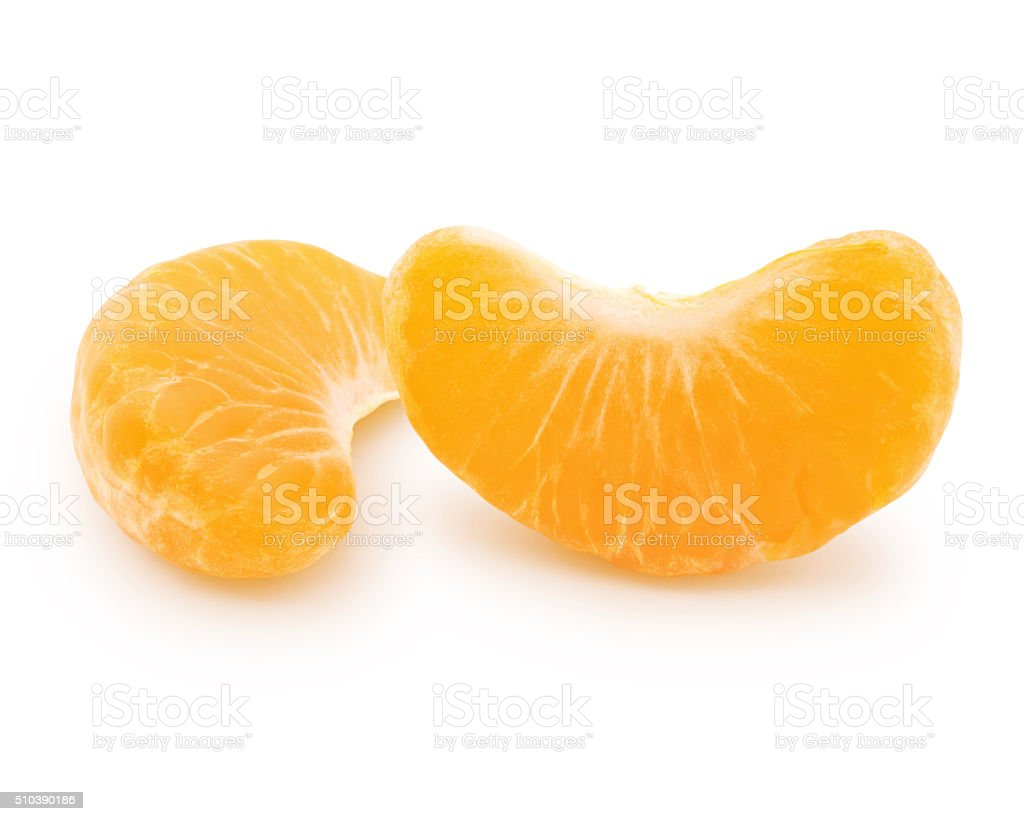 Clementine Pieces (with path) stock photo